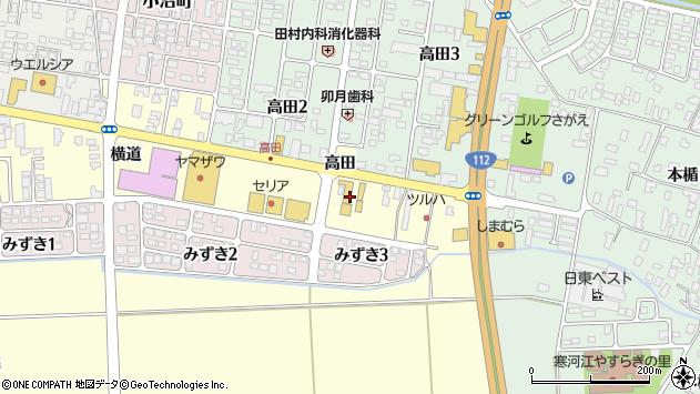 山形県寒河江市寒河江横道69周辺の地図