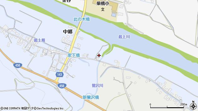 山形県寒河江市中郷113周辺の地図