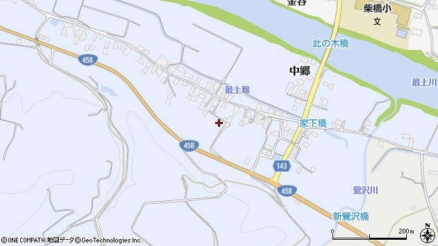 山形県寒河江市中郷487周辺の地図