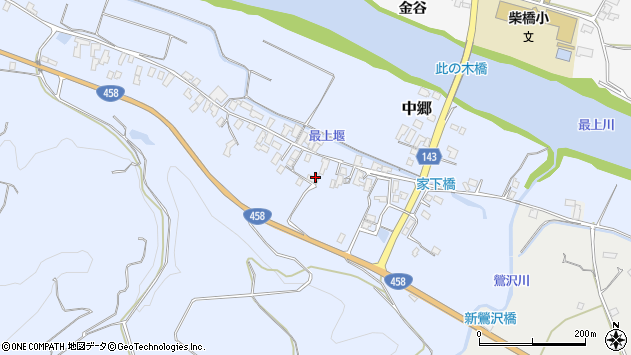 山形県寒河江市中郷481周辺の地図
