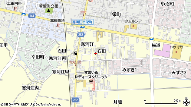 山形県寒河江市寒河江石田42周辺の地図