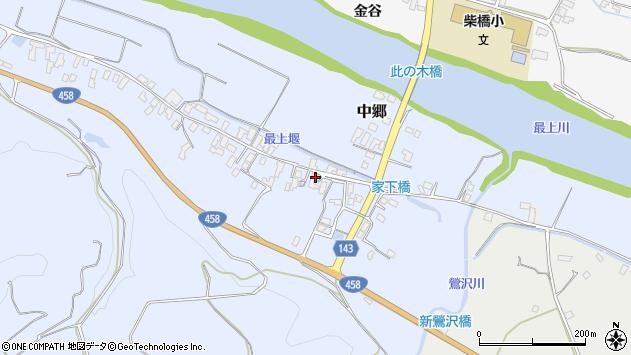 山形県寒河江市中郷463周辺の地図