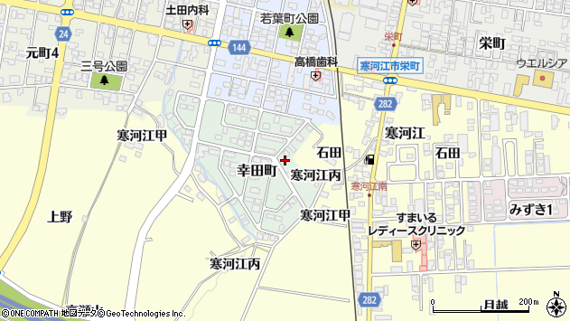 山形県寒河江市幸田町7周辺の地図