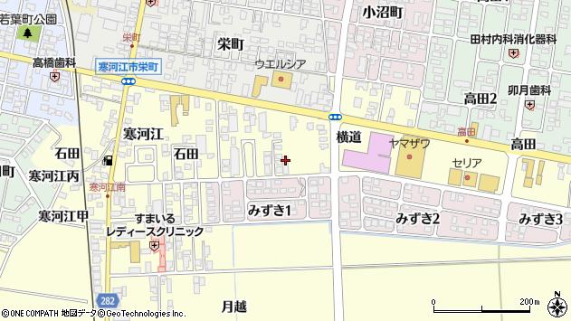 山形県寒河江市寒河江横道24周辺の地図