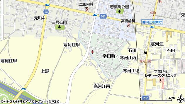 山形県寒河江市幸田町12周辺の地図