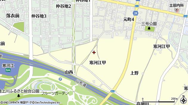 山形県寒河江市寒河江甲1117周辺の地図