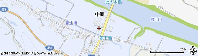 山形県寒河江市中郷140周辺の地図
