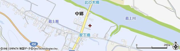 山形県寒河江市中郷130周辺の地図