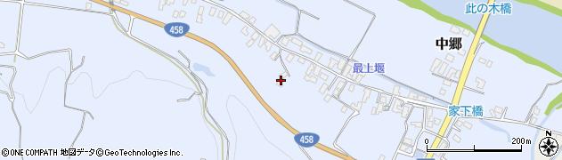 山形県寒河江市中郷509周辺の地図