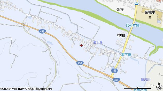 山形県寒河江市中郷504周辺の地図