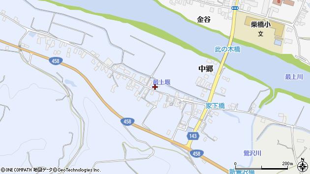 山形県寒河江市中郷214周辺の地図