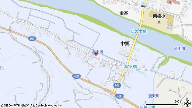 山形県寒河江市中郷213周辺の地図