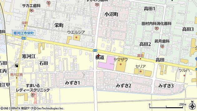 山形県寒河江市寒河江横道52周辺の地図
