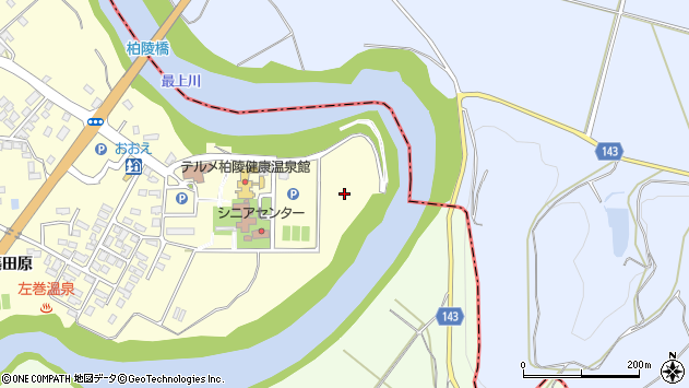 山形県西村山郡大江町藤田下新田周辺の地図