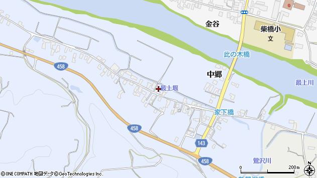 山形県寒河江市中郷216周辺の地図