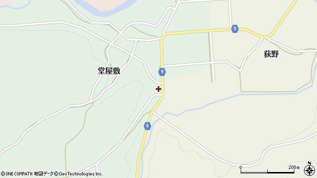 山形県西村山郡大江町堂屋敷35周辺の地図