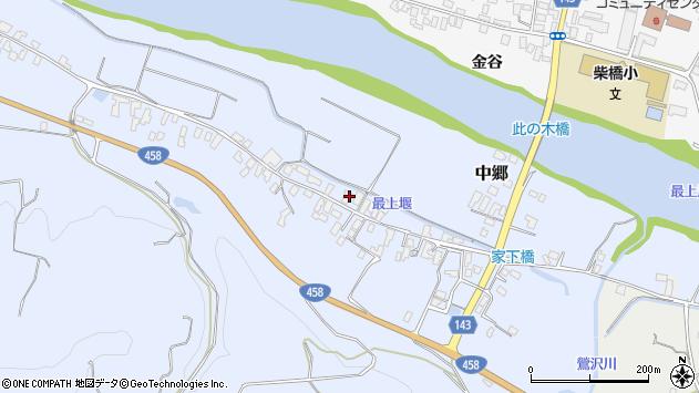 山形県寒河江市中郷217周辺の地図