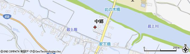 山形県寒河江市中郷135周辺の地図