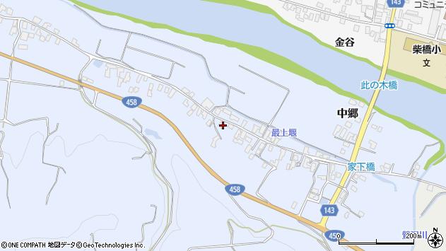 山形県寒河江市中郷517周辺の地図
