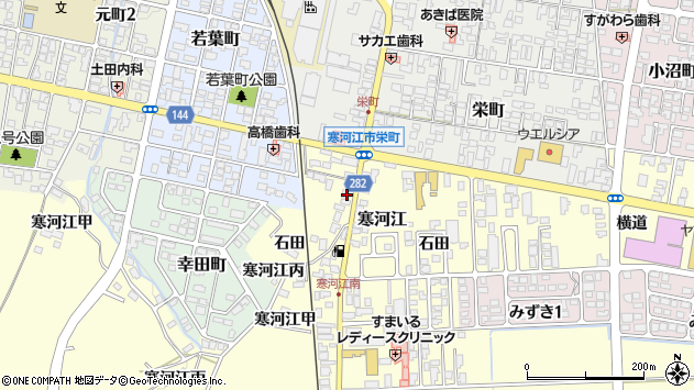 山形県寒河江市寒河江丙2053周辺の地図