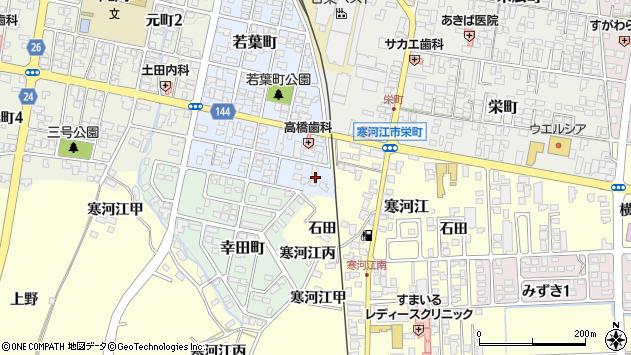 山形県寒河江市若葉町17周辺の地図
