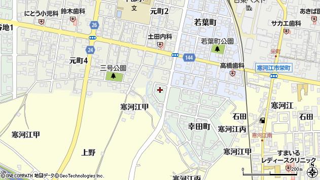 山形県寒河江市幸田町2周辺の地図