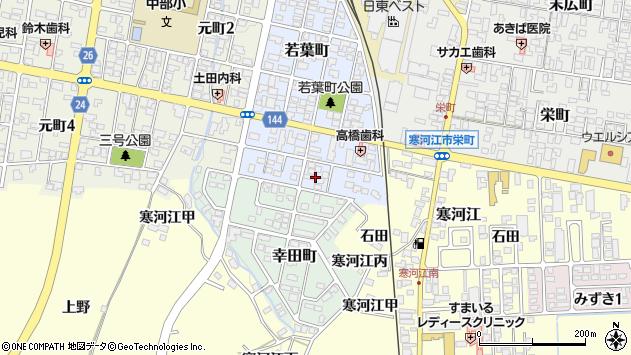山形県寒河江市若葉町16周辺の地図