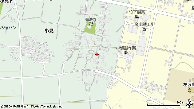 山形県西村山郡大江町小見206周辺の地図