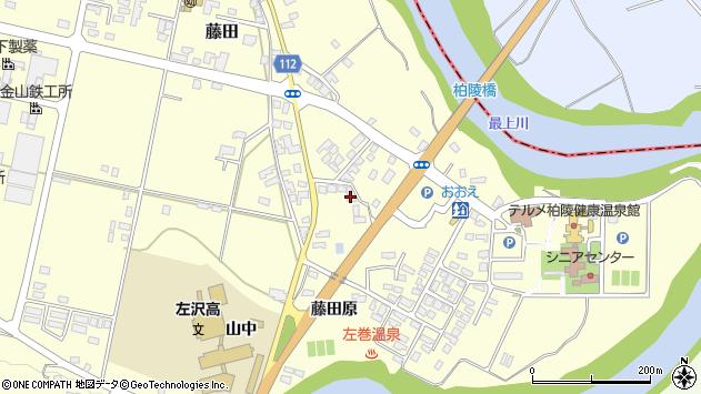 山形県西村山郡大江町藤田藤田原周辺の地図