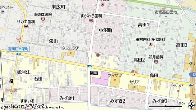山形県寒河江市寒河江横道42周辺の地図