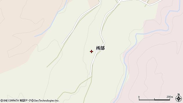 山形県西村山郡大江町所部周辺の地図