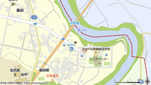 山形県西村山郡大江町藤田249周辺の地図