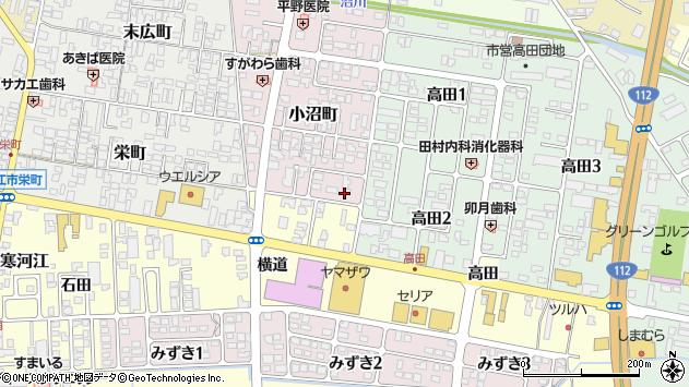 山形県寒河江市小沼町168周辺の地図