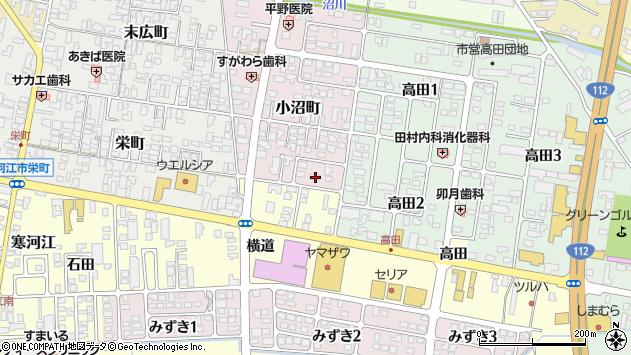山形県寒河江市小沼町170周辺の地図