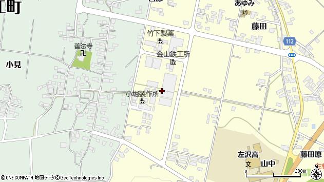 山形県西村山郡大江町藤田西原周辺の地図
