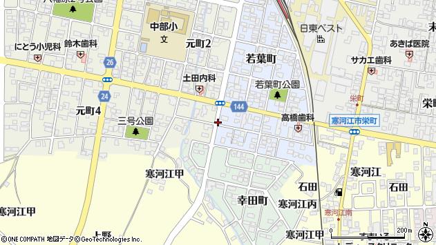 山形県寒河江市若葉町14周辺の地図