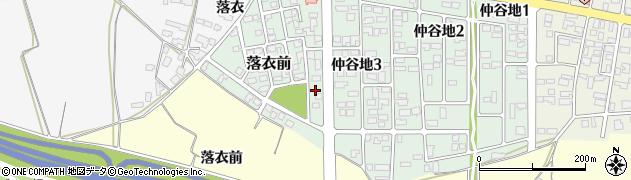 山形県寒河江市落衣前3周辺の地図