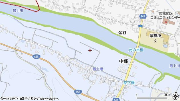 山形県寒河江市中郷家下周辺の地図