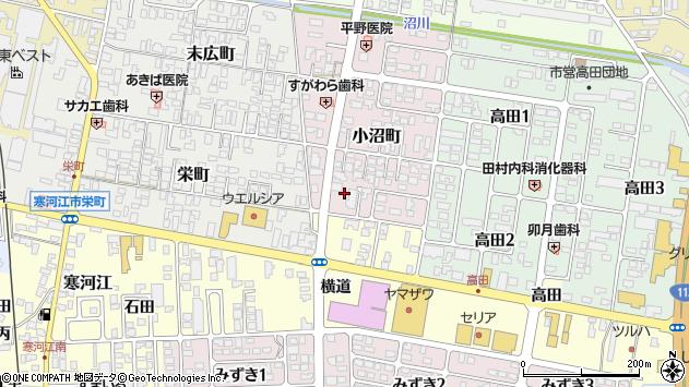 山形県寒河江市小沼町5周辺の地図