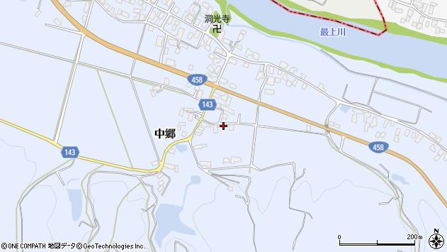 山形県寒河江市中郷650周辺の地図