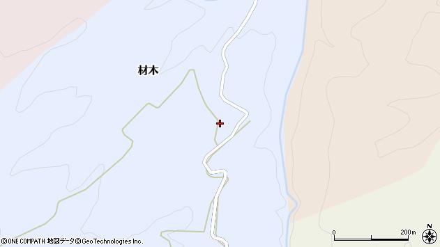 山形県西村山郡大江町材木249周辺の地図