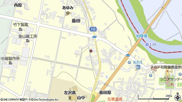 山形県西村山郡大江町藤田728周辺の地図