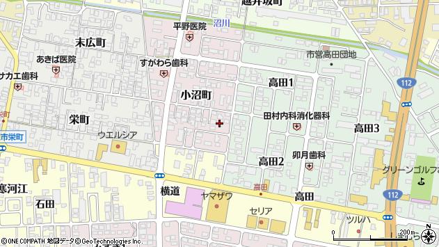 山形県寒河江市小沼町23周辺の地図