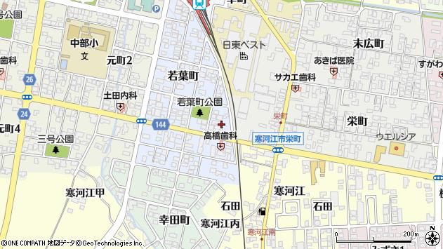 山形県寒河江市若葉町12周辺の地図