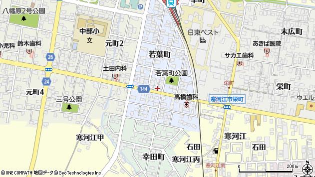 山形県寒河江市若葉町周辺の地図