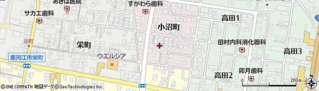 山形県寒河江市小沼町17周辺の地図