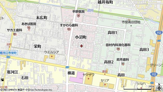 山形県寒河江市小沼町19周辺の地図