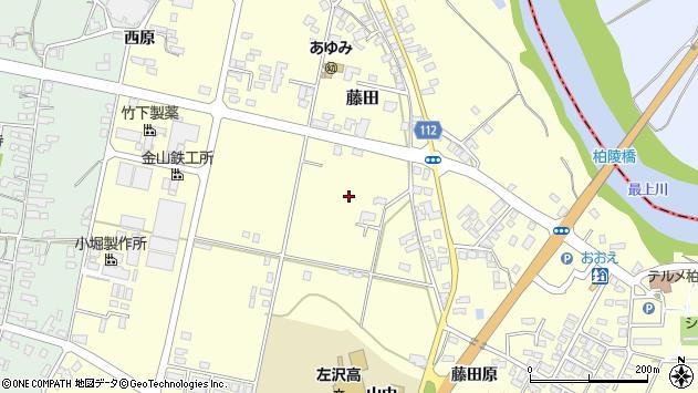 山形県西村山郡大江町藤田山中周辺の地図