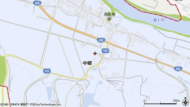 山形県寒河江市中郷976周辺の地図