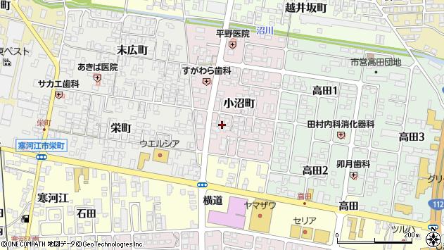 山形県寒河江市小沼町16周辺の地図